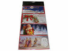 4 PACK CHRISTMAS MONEY WALLETS (CARDS + ENVELOPES) IDEAL FOR CASH OR VOUCHERS