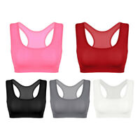 Womens Sheer Sleeveless Racerback Slim Fit Stretchy Vest Tee T-Shirt Crop Top