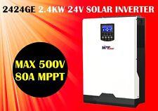 (GE) 3kva 2400w 24v Solar inverter + 80A MPPT solar charger, max PV input 500v
