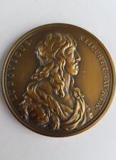 Medaille Frankreich Louis XIII 1638 - Brustbild mit Löwe Rs. -Rs. Le Roi a genou