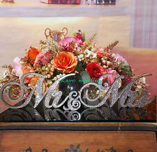 Custom Mr & Mrs. Sign Wedding Reception Cake Table Crystal Rhinestone Wedding