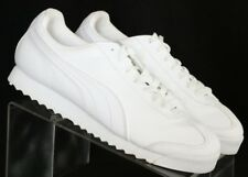 Puma Roma 353572 21 Basic All White Training Wedge Casual Sneakers Men's US 8