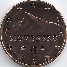 Slowakei 1 Cent Kursmünze (2009 - 2019), unzirkuliert/bankfrisch