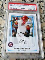 BRYCE HARPER 2011 Bowman #1 Draft Pick Rookie Card RC PSA 9 MINT Phillies HOT $$