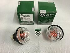 Bearmach Land Rover Defender Clear Indicator Lamp Light Unit x 2 XBD500010R