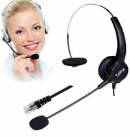 Hands Free Call Center Noise Cancelling Corded Binaural Headset Headphone 4 Pin