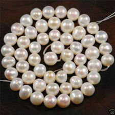 """8-9mm White Freshwater Cultured Pearl Loose Bead 15"""""""