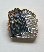 "Doctor Who Tardis ""Dimension In Space"" Enamel Pin - New"