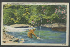 PPC #G166* GOOD POSTCARD MAN FISHING IN STREAM  POSTED