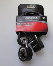 "Master Lock Barrel Combination Bike Lock  with 5 foot 1//4/"" Braided Steel Cable"