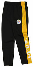 OuterStuff Nfl Youth Boys Side Stripe Slim Fit Performance Pant, Pittsburgh Stee