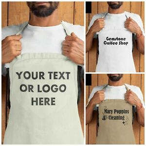 Personalised Custom Printed Apron Adults or Kids Baking Any Wording Text or Logo
