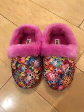FURRY PINK SHOPKINS SLIPPERS SIZE M(7/8) WITH FREE SHIPPING