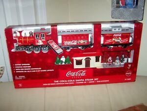 COCA-COLA SANTA STEAM SET- MAILER BOX FRESH - MIB- # K-1309- 0 & 0-27 GAUGE.