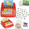 USA Baby English Spelling Word Letter Game Cards Early Learning Educational Toys