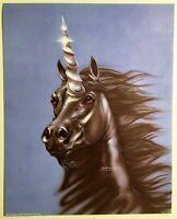 Black Male Bearded Unicorn Lithograph Poster Print Impact #20175 Wall Art 1993