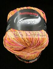 (69 €/kg): 450 Gramm Austermann SANGRIA, Farbverlauf,Fb.05 orange rosa gelb#1338