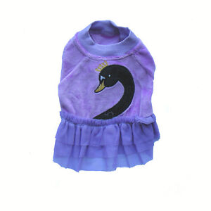 Pet Apparel - Dog Clothes - Purple Swan Skirt (SGY001)