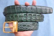 Green Genuine Alligator ,CROCODILE Leather Skin Men's Belt