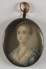 """Portrait of a noblewoman"", English miniature, ca. 1750"
