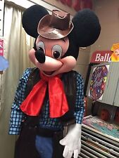New Cowboy Mickey mouse with hat Adult mascot costume/Summer special