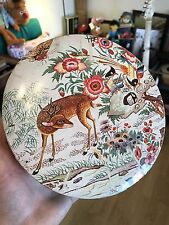Huntley & Palmers Biscuits - round tin - Tapestry - deer - 19 x 6 cm - HB&S