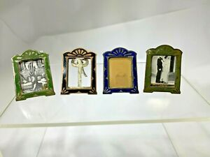 Art Deco Four  Multi Colored French  Miniature Picture Frames