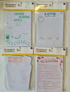Writing Classroom Activities A Letter to My Future Self/Summer Fun/Reading Goals