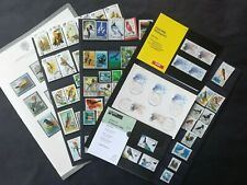 BIRDS: 108 STAMPS (with a 1960 San Marino album page and Dutch fepapost )