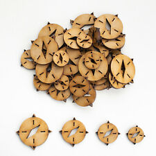Wooden MDF Shapes Compass Craft Scrapbook Embellishments Card Decoration supplie