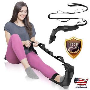 Yoga Ligament Stretching Belt Foot Drop Strap Plantar Fasciitis Leg Training US