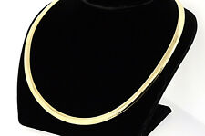 """New 14k Italy Yellow Gold 18"""" 6mm Heavy 41.3g Choker Omega Chain Necklace"""