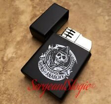 Sons of Anarchy Single Flame Cigar Butane Lighter Black Chrome OVERSTOCK SALE