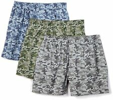 Fruit Of The Loom Men's 3 Pack Printed Boxers Camouflage XXL