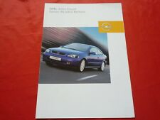 OPEL Astra G Coupe Edition 90 Jahre Bertone Sondermodell Prospekt Brochure 2003