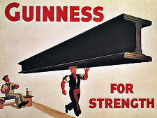 Guinness For Strength, Retro metal Vintage Sign Bar Pub Man Cave