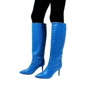 Clubwear Super High Heel Stilettos Wome's Knee High Boots Pointy Toe Outdoor L
