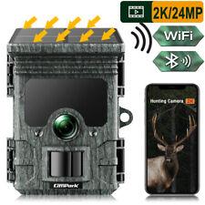 Campark 2K WiFi Solar Trail Hunting Camera 24MP Security Wildlife Cam Waterproof