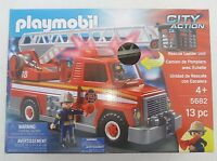 Playmobil CITY ACTION Rescue Ladder Unit FIRE TRUCK #5682 Lights & Sounds NEW