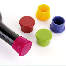 2x Reusable Silicone Wine Beer Top Bottle Caps Stopper Drink Savers Sealer TSUS