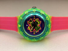 SWATCH Orologio ** sdj101-Bay Breeze-Scuba 200 ** NUOVO!