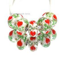 1 High Glas Bead für Armband - Kette* Großloch Perlen* Beads * Modularmband Herz