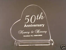 Personalized Anniversary Acrylic Heart Cake Topper Gift