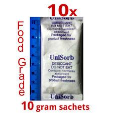 10x 10gm USFDA Food Grade Silica Gel Desiccant Moisture Absorber dessicant