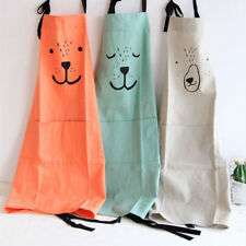 Lovely Cartoon Apron Kitchen Children Smock Chef Cooking Catering Birthday