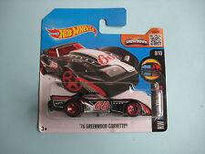 Diecast Hotwheels HW Mild To Wild 8/10 '76 Greenwood Corvette Black on Blister