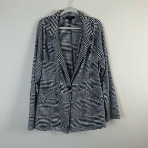 Forever 21 3X Blazer Houndstooth Womens Plus Single Button Career Work