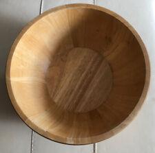 Large Brown Wooden Fruit Bowl