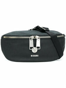VERSACE VERSUS Men's  Belt Bag / Fanny Pack Lion Head Black New
