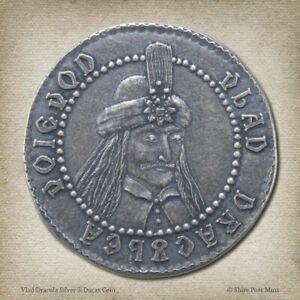 Dracula Vlad the Impaler Tepes 3 Ducat  .999 Pure Silver Coin Prince Wallachia